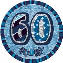 "Blue Glitz 6"" Badge - 60"